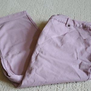 Jeans slim leg 5 pocket mauve